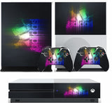 ADIDAS MULTICOLOR  XBOX ONE S (SLIM) *TEXTURED VINYL ! * PROTECTIVE SKIN DECAL WRAP
