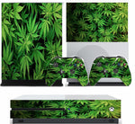 GREEN LEAF XBOX ONE S (SLIM) *TEXTURED VINYL ! * PROTECTIVE SKIN DECAL WRAP