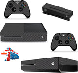 BLACK CARBON XBOX ONE *TEXTURED VINYL ! *PROTECTIVE VINYL SKIN DECAL WRAP
