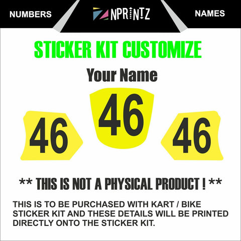 STICKER KIT CUSTOMIZATION FEE - KART KARTING MOTO X DECALS
