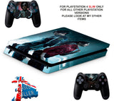 RESIDENT EVIL 2 PS4 SLIM *TEXTURED VINYL ! *PROTECTIVE SKINS DECALS WRAP