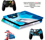 DRAGONS DAWN OF NEW RIDERS PS4 SLIM *TEXTURED VINYL ! *PROTECTIVE SKINS DECALS WRAP