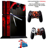 DEADPOOL 3 PS4 *TEXTURED VINYL ! * PROTECTIVE SKINS DECAL WRAP STICKERS