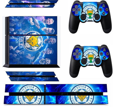 LEICESTER CITY 1 PS4 *TEXTURED VINYL ! * PROTECTIVE SKINS DECAL WRAP STICKERS