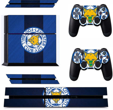LEICESTER CITY 2 PS4 *TEXTURED VINYL ! * PROTECTIVE SKINS DECAL WRAP STICKERS
