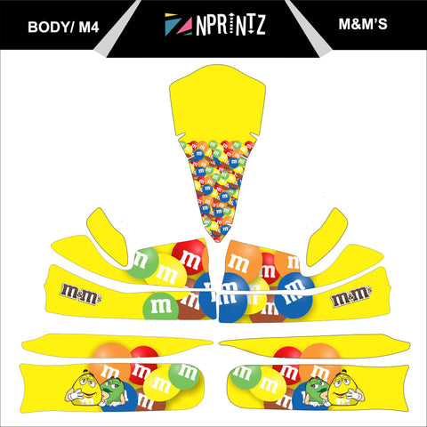 M4 M&M,S FULL KART STICKER KIT
