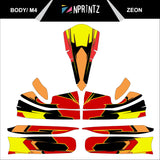M4 ZEON FULL KART STICKER KIT