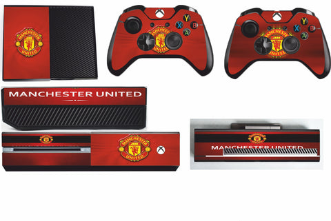 MANCHESTER UNITED XBOX ONE*TEXTURED VINYL ! *PROTECTIVE SKIN DECAL WRAP
