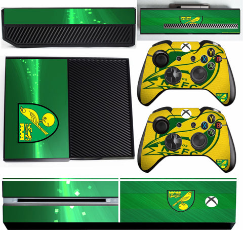 NORWICH CITY XBOX ONE*TEXTURED VINYL ! *PROTECTIVE SKIN DECAL WRAP