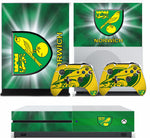 NORWICH CITY XBOX ONE S (SLIM) *TEXTURED VINYL ! * PROTECTIVE SKIN DECAL WRAP