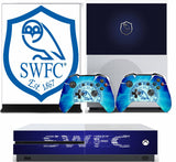 SHEFFIELD WEDNESDAY XBOX ONE*TEXTURED VINYL ! *PROTECTIVE SKIN DECAL WRAP