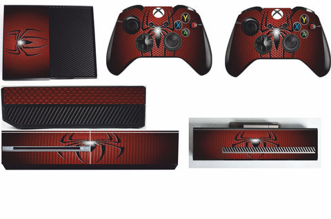 SPIDERMAN XBOX ONE *TEXTURED VINYL ! *PROTECTIVE VINYL SKIN DECAL WRAP