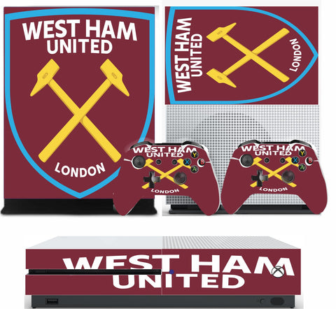WEST HAM XBOX ONE S (SLIM) *TEXTURED VINYL ! * PROTECTIVE SKIN DECAL WRAP