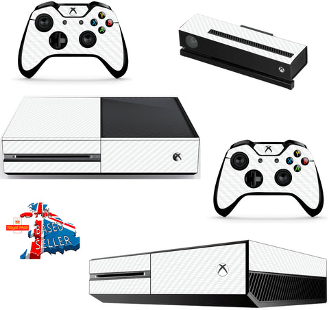 WHITE CARBON XBOX ONE *TEXTURED VINYL ! *PROTECTIVE VINYL SKIN DECAL WRAP