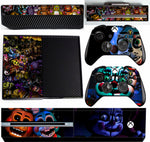 FIVE NIGHTS AT FREDDY'S XBOX ONE *TEXTURED VINYL ! *PROTECTIVE VINYL SKIN DECAL WRAP