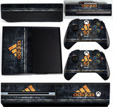 ADIDAS GOLD XBOX ONE *TEXTURED VINYL ! *PROTECTIVE VINYL SKIN DECAL WRAP