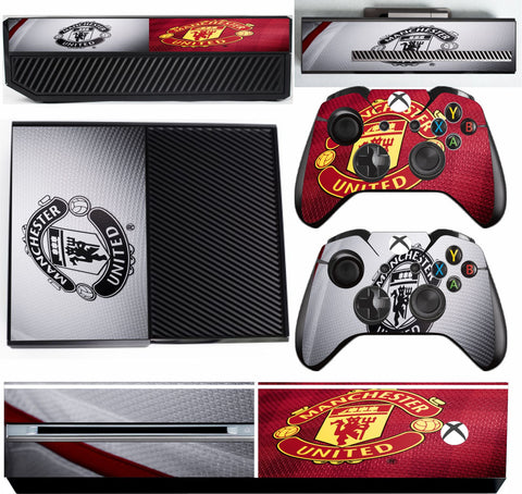 MANCHESTER UNITED 2 XBOX ONE*TEXTURED VINYL ! *PROTECTIVE SKIN DECAL WRAP