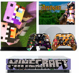 MINECRAFT APHMAU XBOX ONE S (SLIM) *TEXTURED VINYL ! * PROTECTIVE SKIN DECAL WRAP