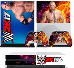WWE 2K17 XBOX ONE S (SLIM) *TEXTURED VINYL ! * PROTECTIVE SKIN DECAL WRAP