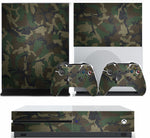 GREEN CAMO XBOX ONE S (SLIM) *TEXTURED VINYL ! * PROTECTIVE SKIN DECAL WRAP