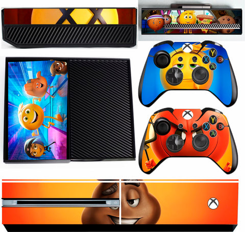 EMOJI MOVIE XBOX ONE *TEXTURED VINYL ! *PROTECTIVE VINYL SKIN DECAL WRAP