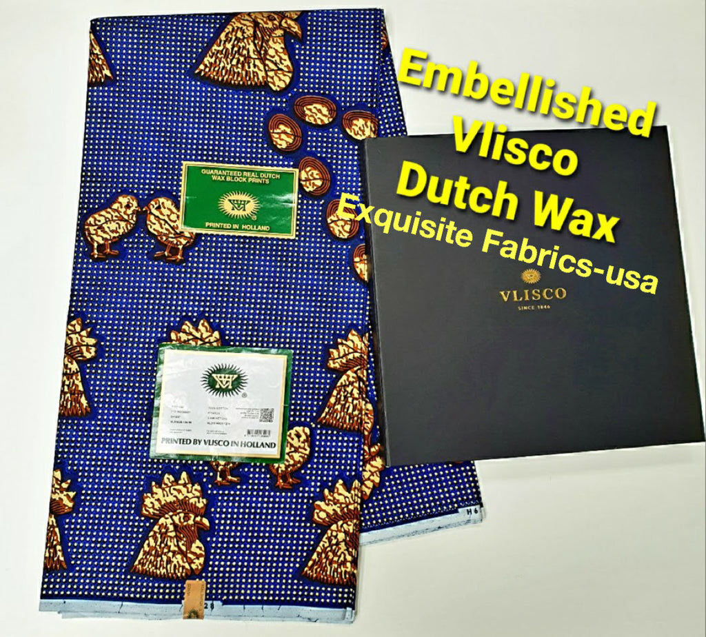Embellished Vlisco Hollandais Wax