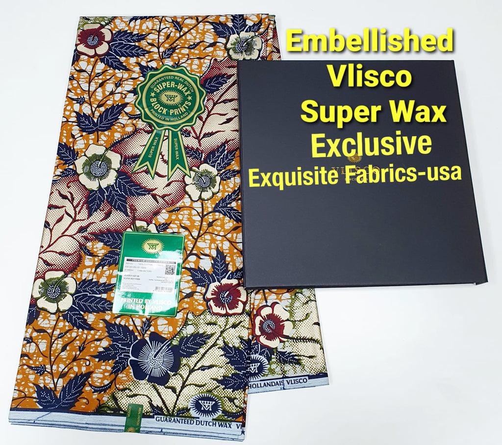 Embellished Vlisco Super Wax Exclusive