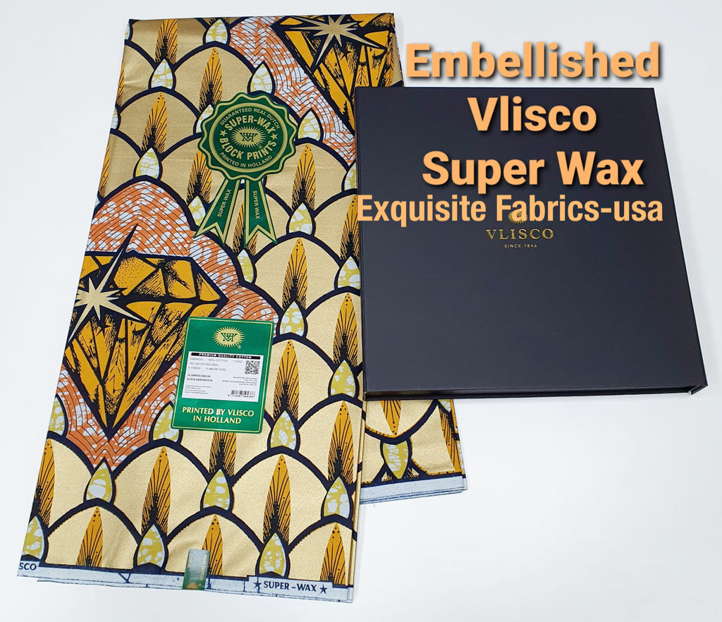 Embellished Vlisco Super Wax