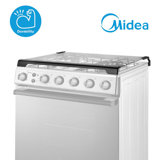 Midea 60cm Silver Stainless Steel Gas Range (4 Gas Burners)