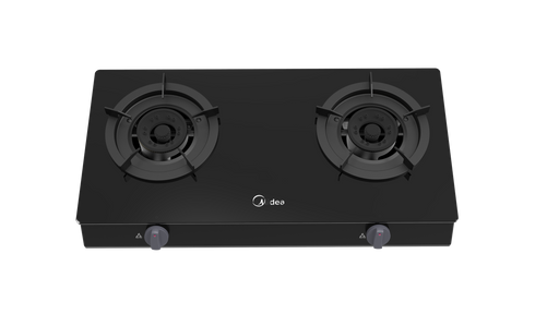 Midea Gas Stove Table Top Tempered Glass 2 Burner