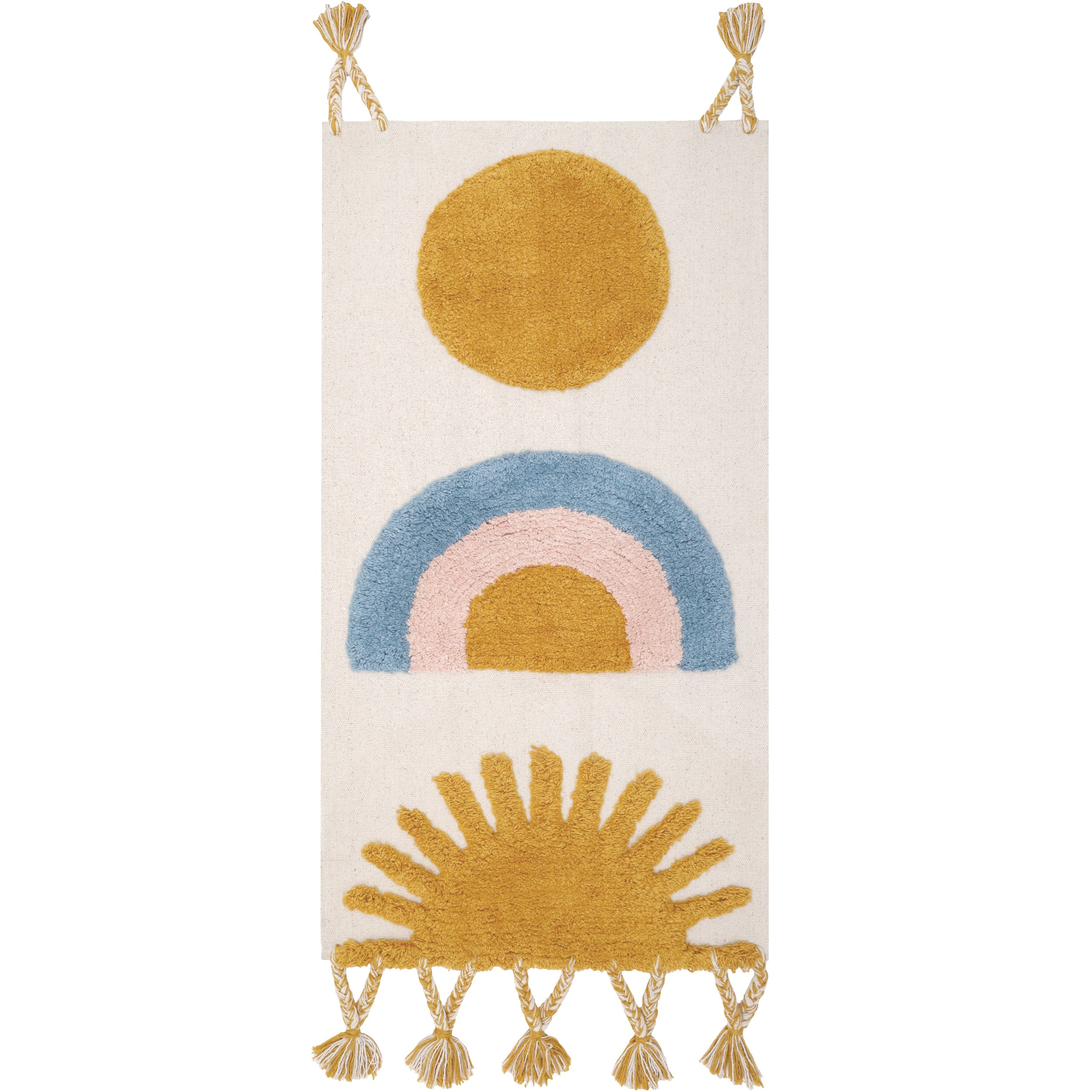 Wall hanging with moon, rainbow and sun | Nattiot 'Murale sunshine'