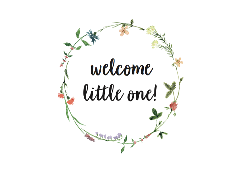 Ansichtkaart Welcome little one