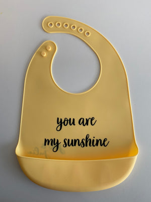 Siliconen slab | Geel met 'you are my sunshine'