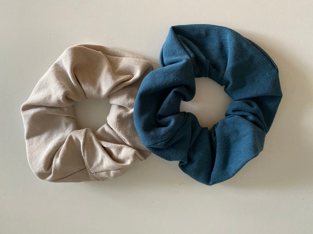 Scrunchies set | Zand en Petrol
