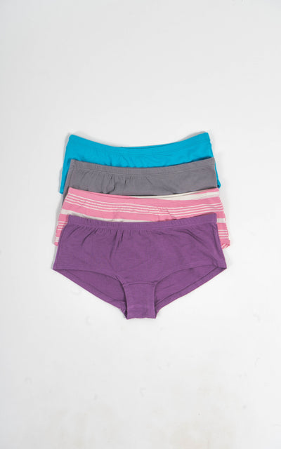 BOYSHORT x4 PACK (RANDOM COLOURS)