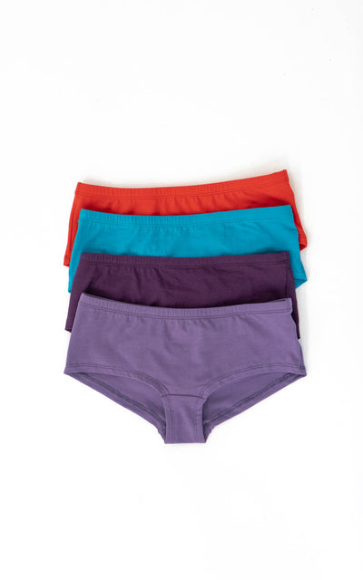 BOYSHORT ORGANIC COTTON x4 PACK (RANDOM COLOURS)