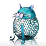 tirelire chat bleu