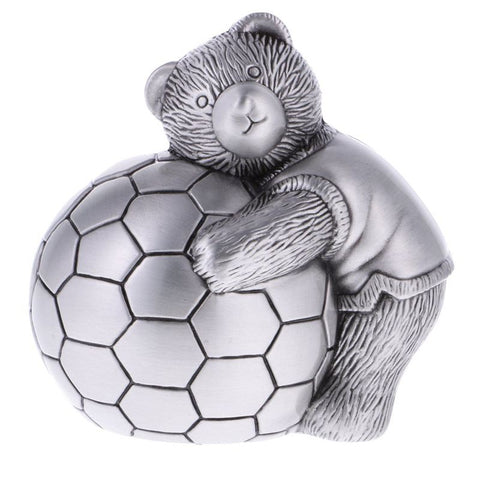 Tirelire <br>Ours Et Ballon Foot