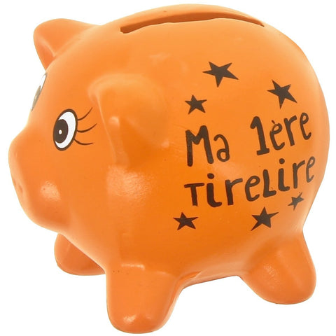 Tirelire Cochon Orange
