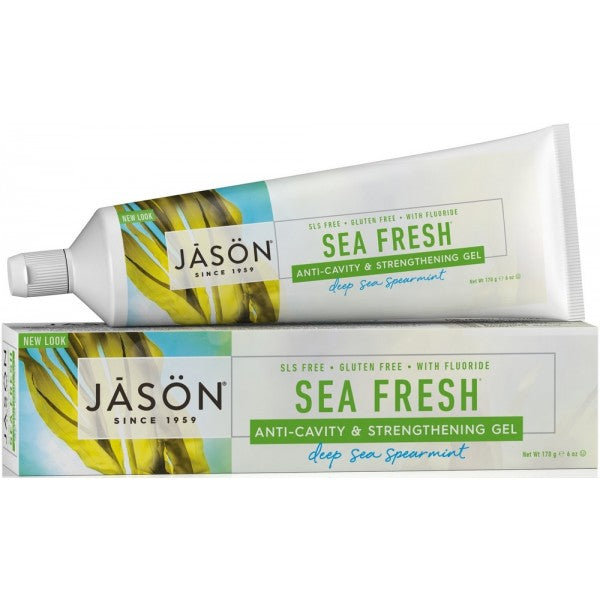 JASON Sea Fresh CoQ10 Anti-Cavity & Strengthening Toothpaste with Fluoride