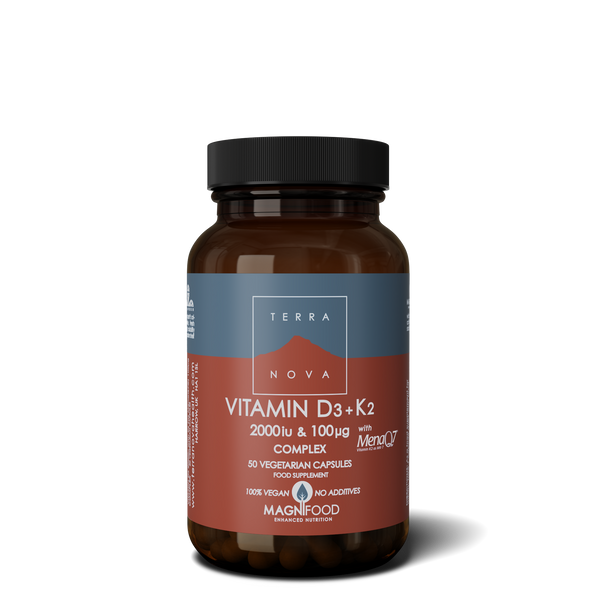 TERRANOVA Vitamin D3 2000Iu With Vitamin K2 100Ug Complex