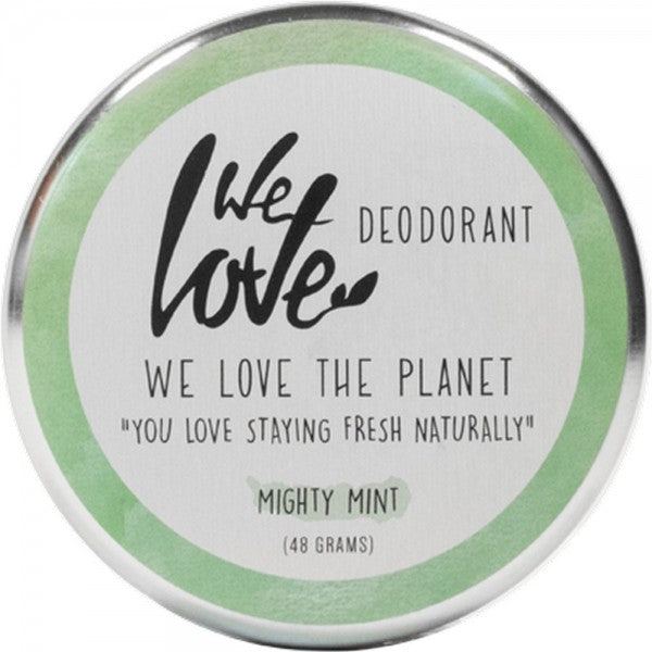 WE LOVE THE PLANET Natural Deodorant Cream-Mighty Mint