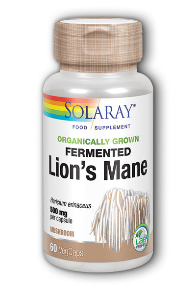 SOLARAY Organically Grown Lions Mane Mushroom Capsules