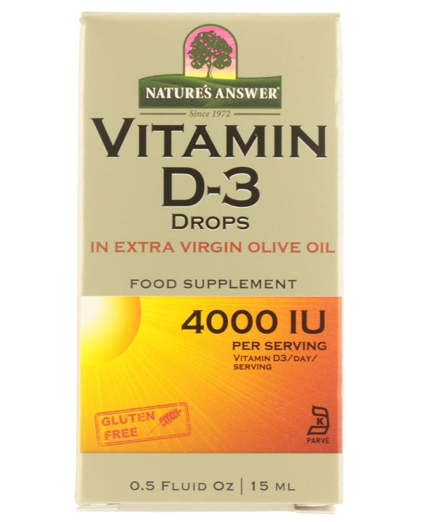 NATURE'S ANSWER Liquid Vitamin D3 Drops