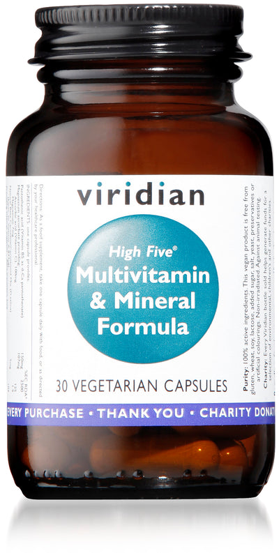 VIRIDIAN High Five™ Multivitamin & Mineral Formula Veg Caps