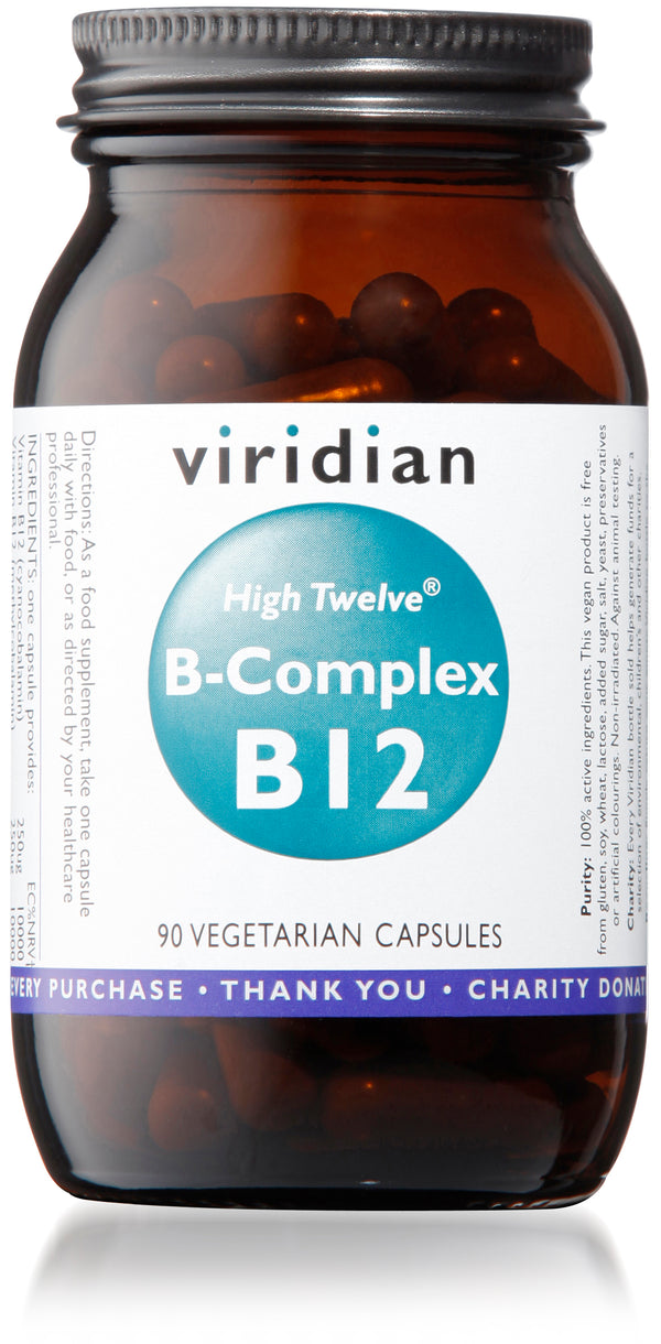 VIRIDIAN High Twelve™ Vitamin B12 With B-Complex Veg Caps