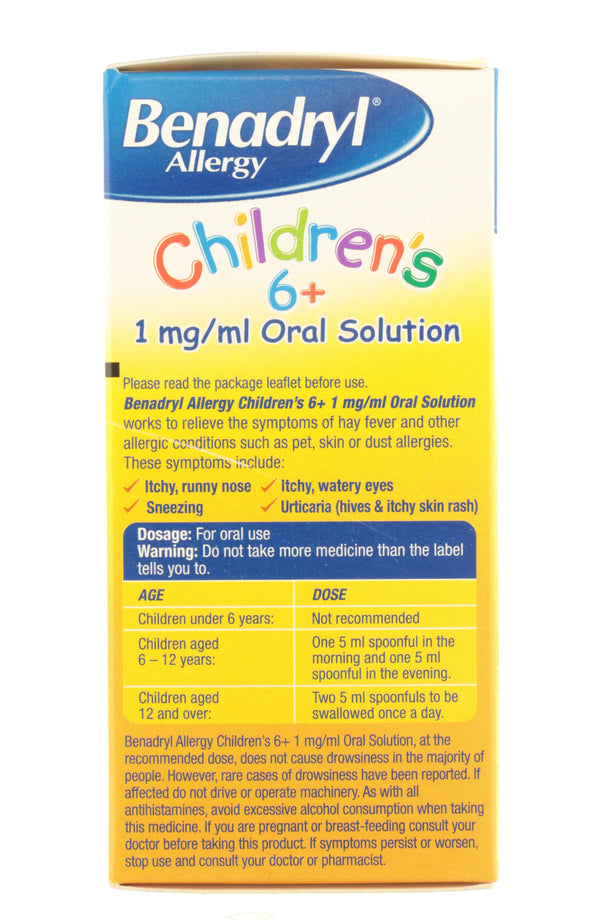 Benadryl Allergy Children's Solution