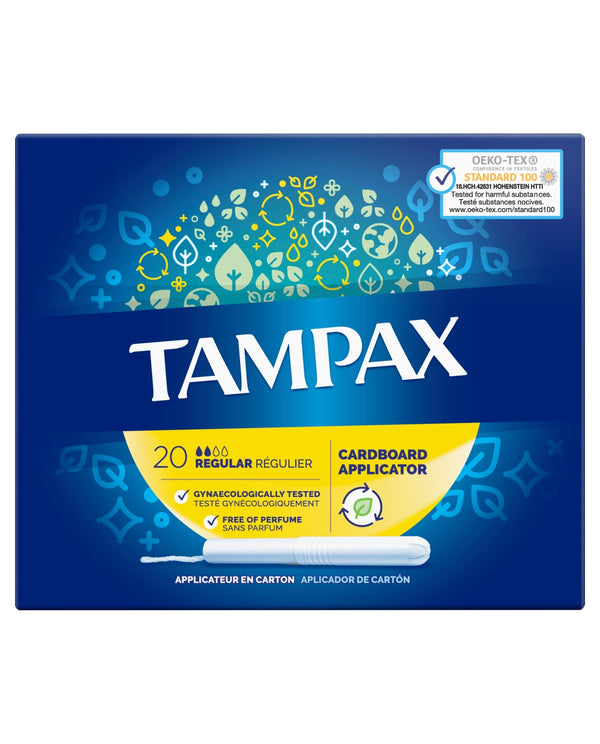 TAMPAX Regular Tampons Applicator Cardboard