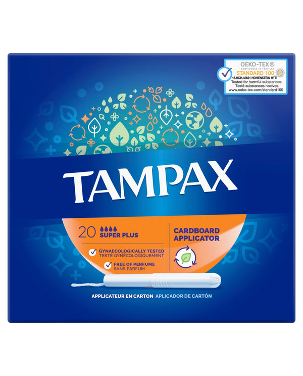 TAMPAX Super Plus Tampons Applicator Cardboard