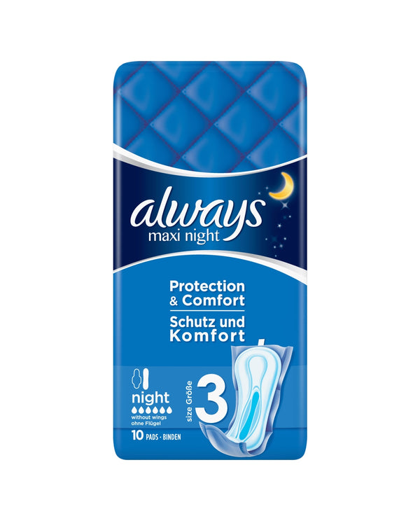 ALWAYS Always Maxi Night (Size 3) Sanitary Towels 10 Pads